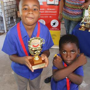 Carlong/Kiwanis Sand Pebbles Pleasure Series (SPPS) Literacy Competition 2019 - 2nd place winners, Cedar Grove Basic, show some charisma!